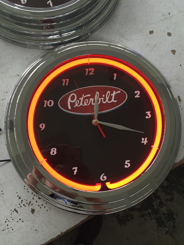 15inch single neon light neon clock