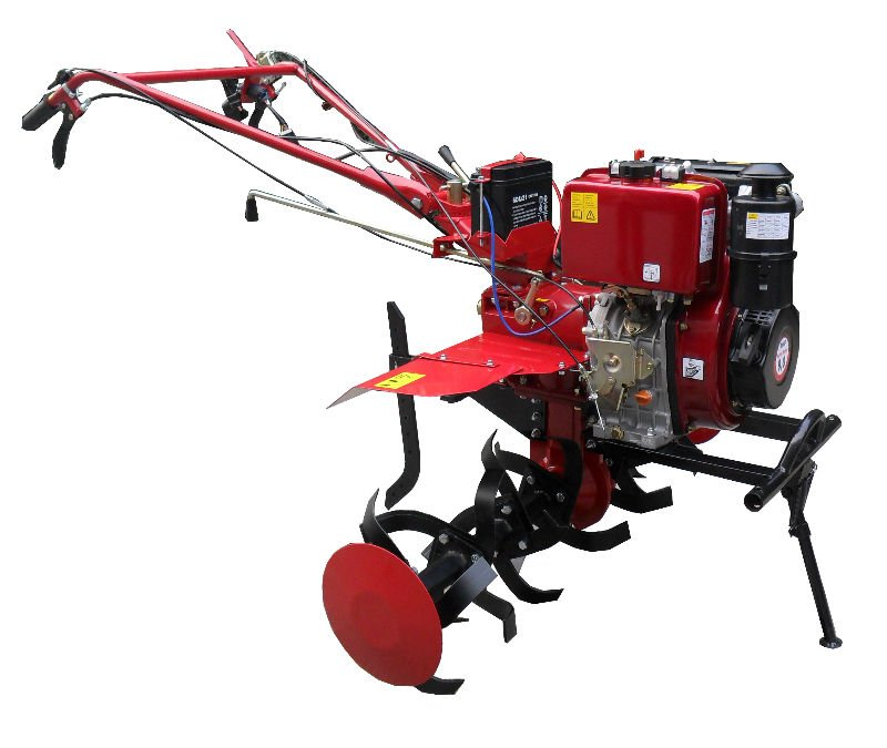 WY-1100B High quality 9.0Hp 186Diesel engine powered Tiller/cultivator ,small farming machines