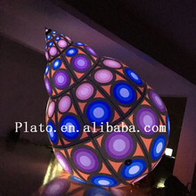 New design led lighing giant PVC inflatable conch,attractive outdoor advertising inflatable sea sell conch for sale