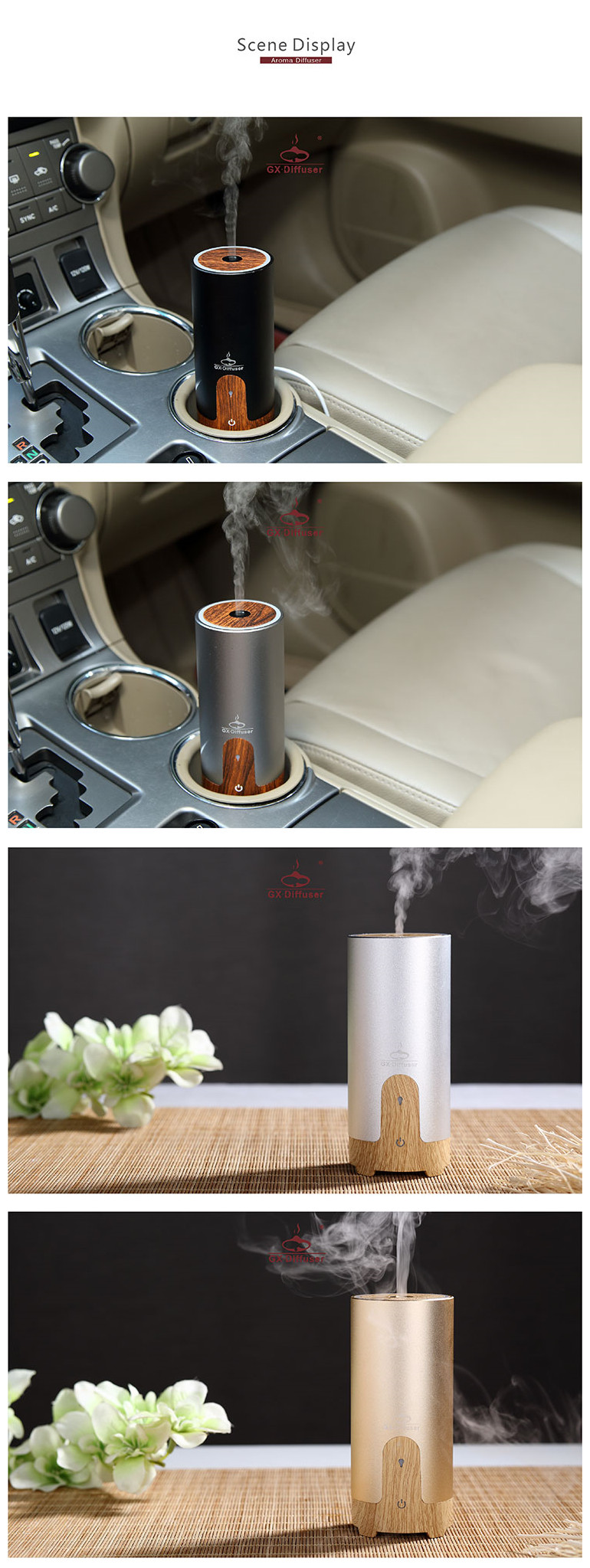 Car essential oil diffuser, car diffuser essential oil, essential car aroma diffuser wood