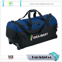 Outdoor sports gym men's duffel trolley bag roller duffel bag wholesale