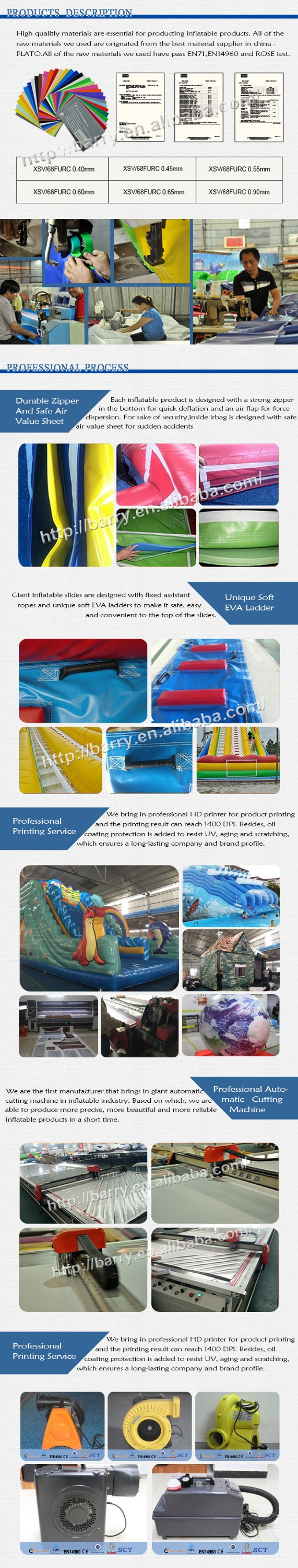 Commercial obstacle courses animal, sharp / dragon inflatable obstacle course