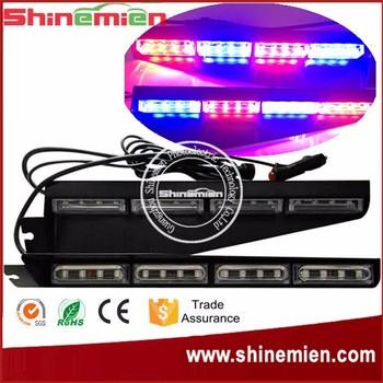 Emergency Equipment LightBar Multi Color Split Visor Strobe LED Windshield Strobe  Light Fire EMS Police