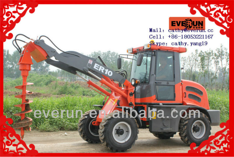Everun CE/TUV Approved Articulated Compact Shovel Loader with Fully Hydraulic System ER10