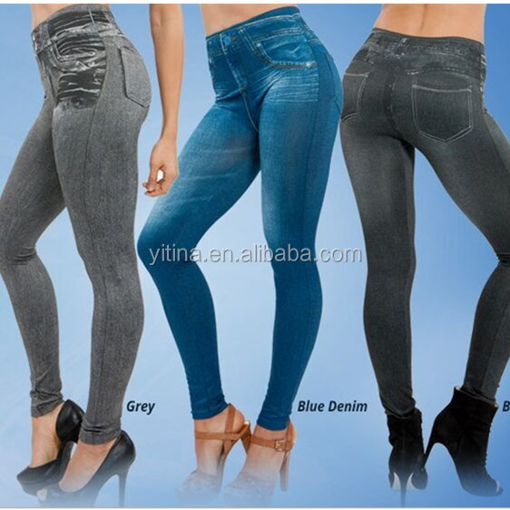 3 colors one <strong>set</strong> <strong>TV</strong> Selling Seamless Slimming Jeans Women Leggings