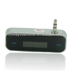 wholesale 3.5mm In-car Handsfree Wireless mp3 player fm radio transmitter