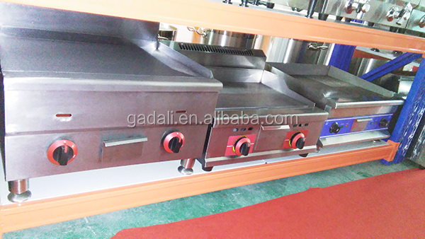 Commercial hotel kitchen equipment hotel stainless steel electric griddle non stick