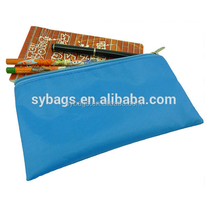 Heopono 600D Polyester Classical Cheap Pen Bag Zippered Small Cute Custom Wholesale Zipper Pencil Case