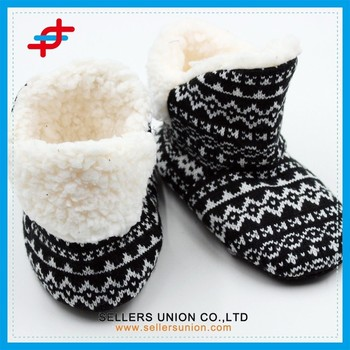 модные женские зимние вязаные домашние тапочки ботинки в винтажном