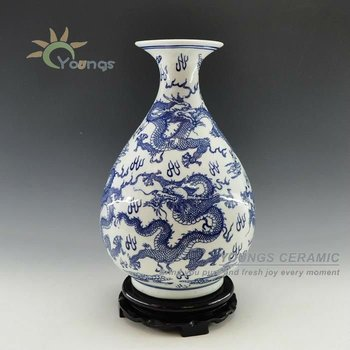 Chinese Porcelain Blue And White Dragon Vases Buy Blue And White