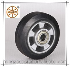 black rubber wheels and casters