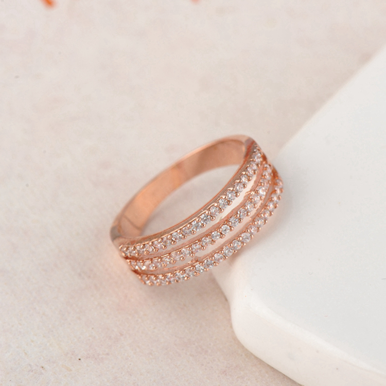 Newest fashion Design Natural online buying latest rose gold wedding ring designs CRI0198-A