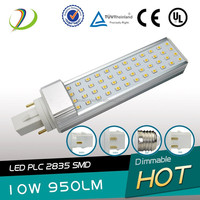 High lumens g24 led pl lamps with several kinds of lamp socket pl adopt 2835smd chip led pl bulb lights