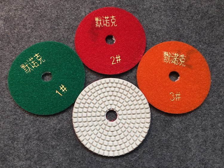 Three Steps Flexible Diamond Polishing Pad Wet & Dry Polishing Pad