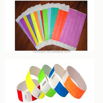 Factory Price Event Party Paper Bracelets Tyvek Wristbands