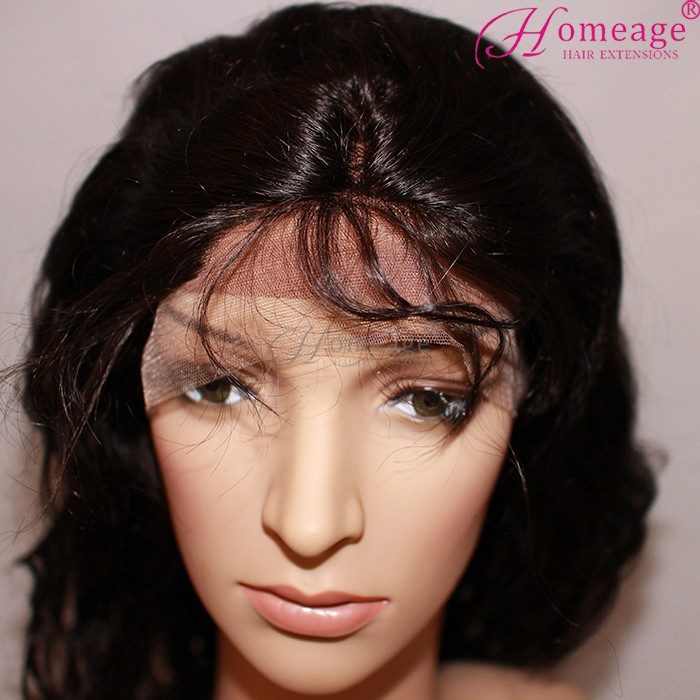 Homeage wholesale human hair lace front wigs with bangs
