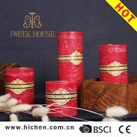 High quality home decoration parafina para velas
