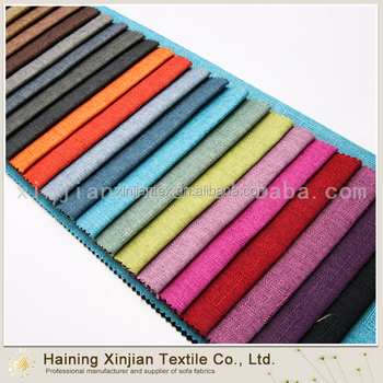 Latest Good Quality Fashion Fabric Linen Furniture Upholstery Types