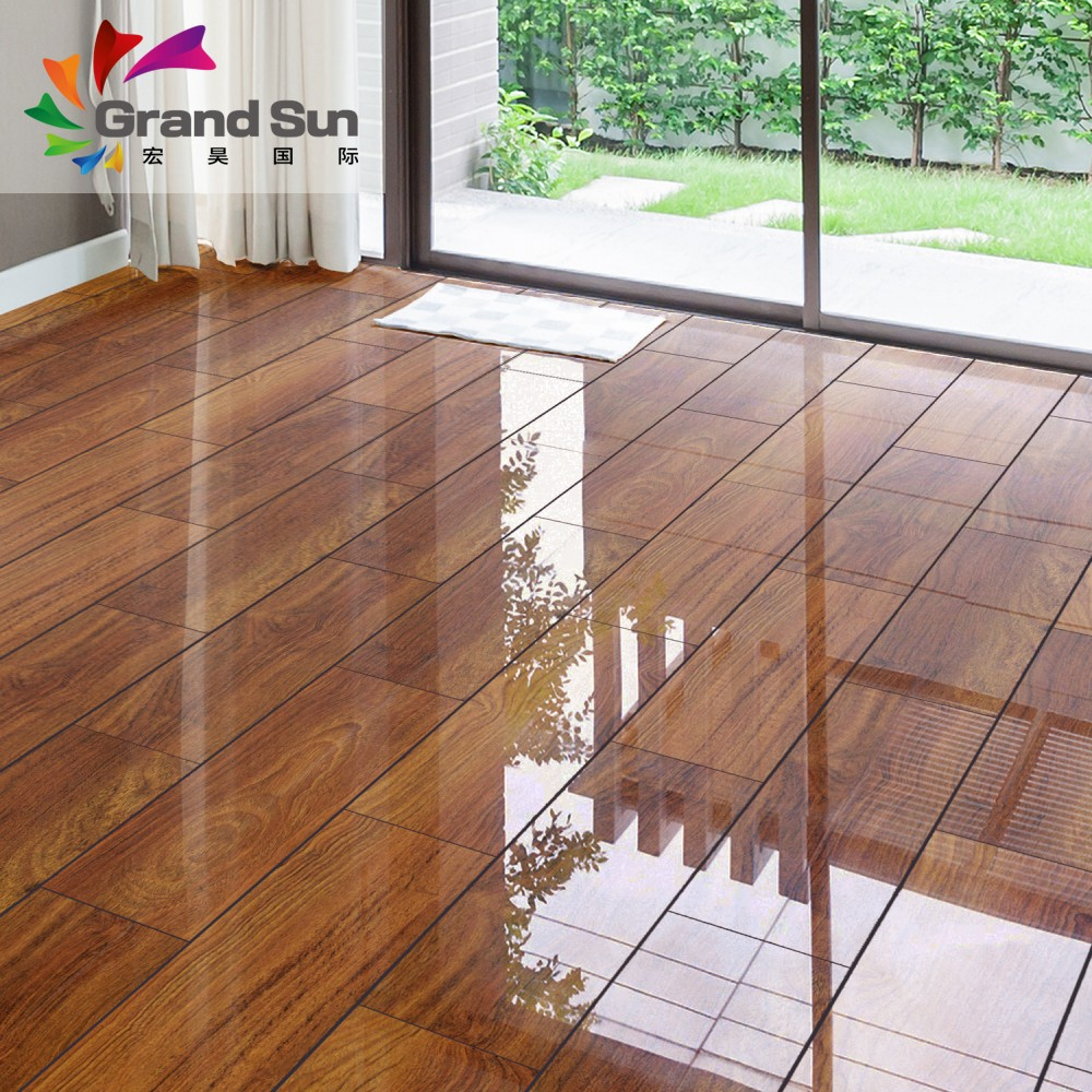 An Natural Wood Piano Surface Laminate Flooring Made In China
