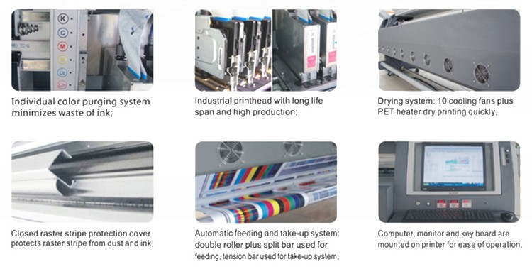 Chinese manufacturer multicolor inkjet screen solvent printer with CE approved