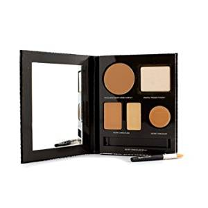 The Flawless Face Book - # Tan (1x Creme Compact 1x Pressed Powder w/ sponge 1x Secret Camouflage...) 5pcs