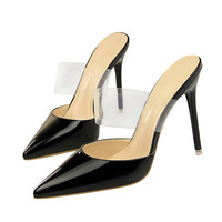 Transparent Material Custom Made Brand Sexy Pump Slippers Women Dress Shoes