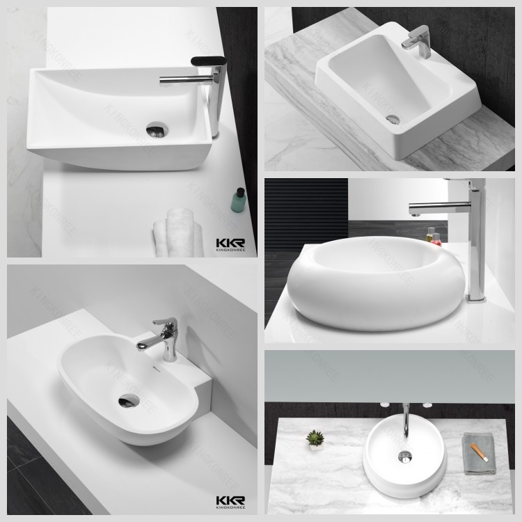 Stone Resin Vanity Top Sink Table Top Basin