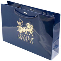 Deluxe matte laminated gold hot stamping art paper euro tote bag