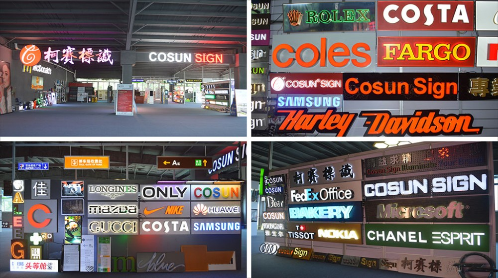 illuminated signboard, cheap led channel letter signs, frontlit sign with back holder