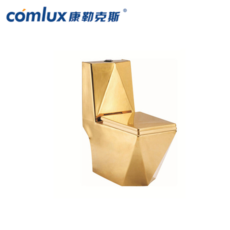 gold plated bathroom ceramic wash one piece gold color gilding toilet