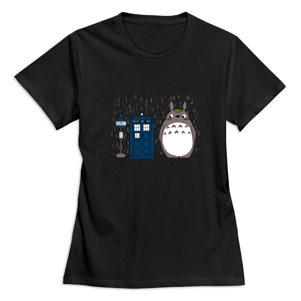 Allons y Totoro T Shirt for Women's Cotton Cool Ladies ...