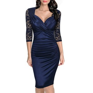 he20263a Dress lace pencil skirt of hot style women's dress with large skirt of euramerican big size