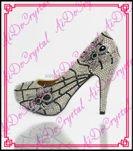 Aidocrystal the butterfly crystal diamond fashion wedding high heel shoes