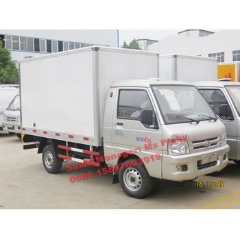 22c7f683c5 FOTON Forland mini Refrigerator Truck with gasoline Engine Freezer Van Truck
