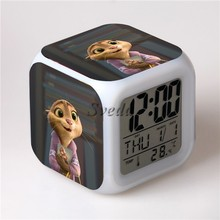 Hot Movie Zootopia LED Alarm Clock, Wide Hopps Digital Alarm Clock, Zootopia Cartoon Clock for Kids