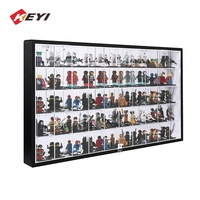 Wall Mounted Acrylic Compartments Lego Toys Lockable Cabinet / Acrylic Lego Display Case