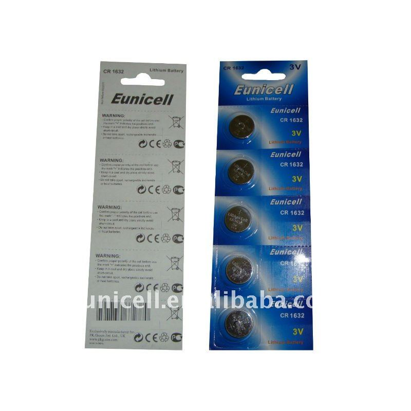 Batteria a BOTTONE CR1632 batteria equivalente 1632 CR 1632 DL1632 ECR1632 KCR1632 LM16323V Al Litio button cell batteries (Eunicell marca)