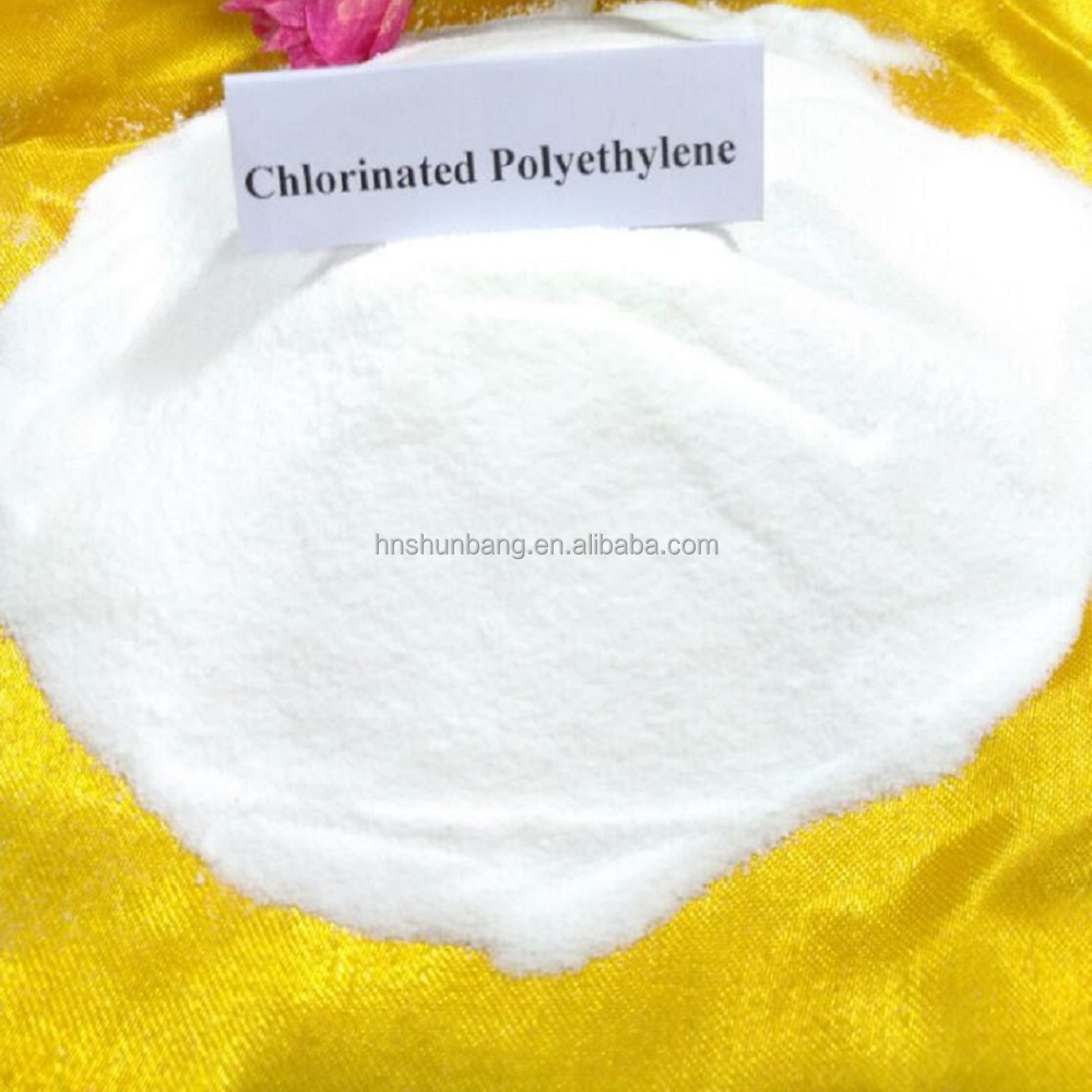 good quality of virgin Chemical rew material Chlorinated Polyethylene white powder CPE chemical raw material