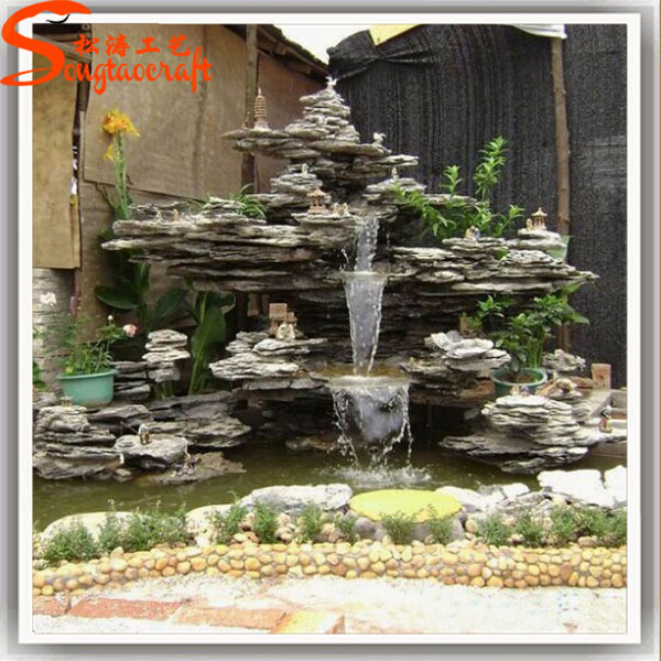 Professional Customized Indoor Waterfall Fountain Price Fiberglass Fountain  Waterfall Buddha Fountain