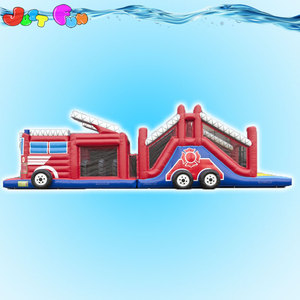 inflatables obstacle course,inflatable run fire truck obstacle course,truck inflatable bounce house