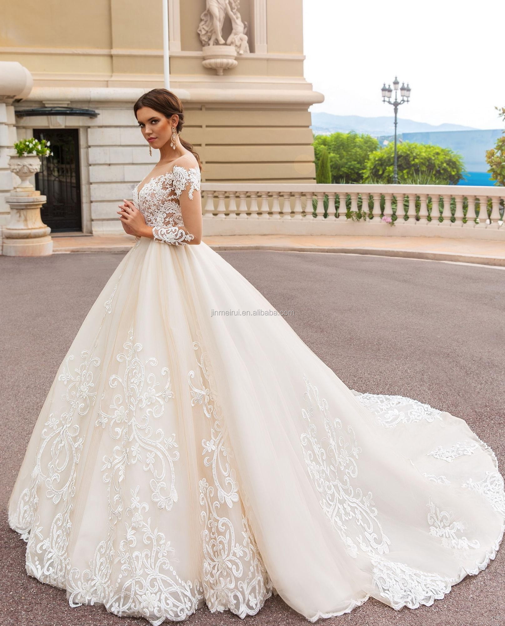 Long Sleeves Ball Gowns Wedding Dresses