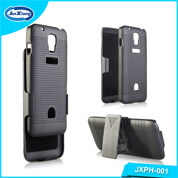 Multi-functional plastic cell phone holster case for Huawei G527 with kickstand