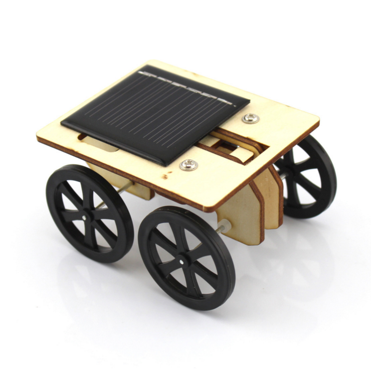 DIY Mini Solar Wooden Toy Cars Science Educational Toys