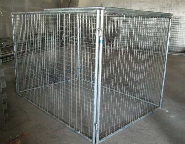 Wire Mesh Temporary Fence For Rubbish Cage