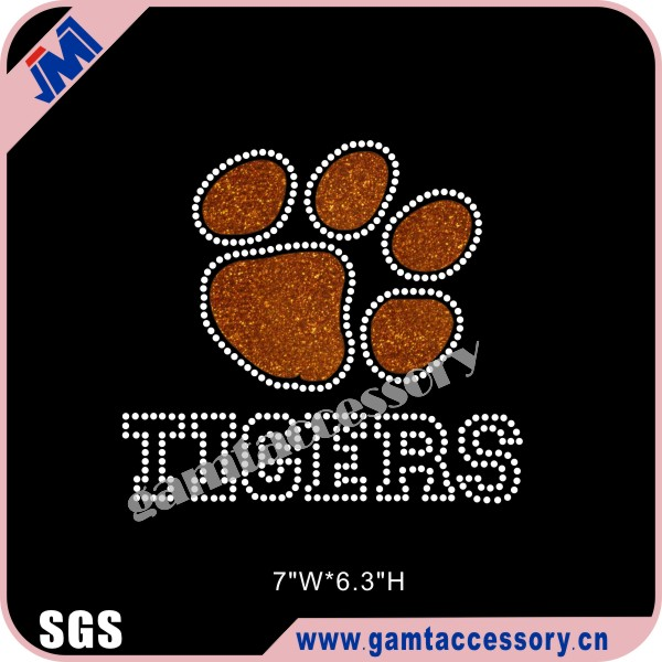 Beautiful Clemson University Tigers Football Glitter Transfers