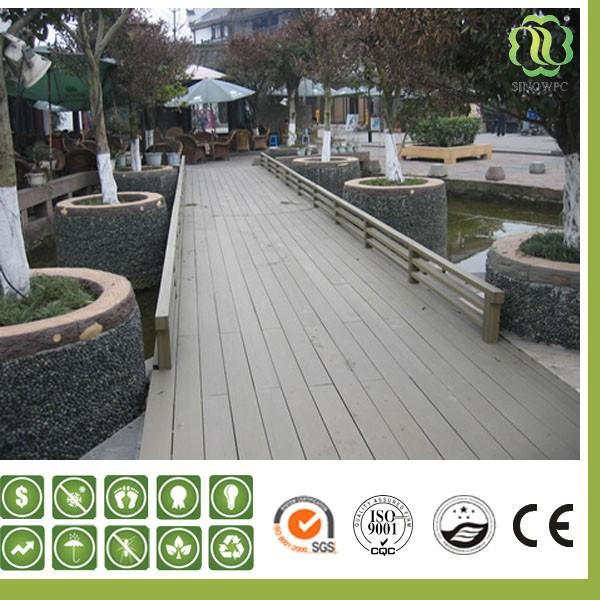 Jardin ext rieur en bois composite platelage verrouillage for Plancher exterieur composite