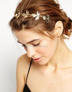 Gold Leaf Crown Leaves Headband Hair Band Formal Prom Wedding Bridal  Headband Tiara 8209c148e41