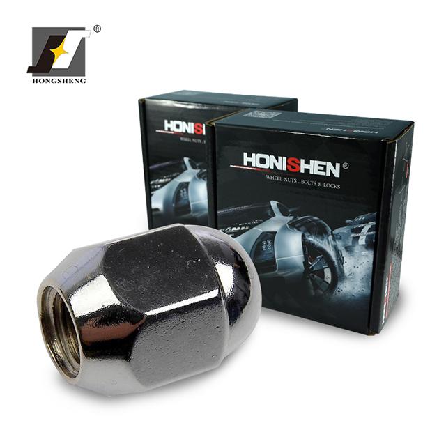 "4 12x1.25 Gloss Black Wheel Locks Acorn Cone Seat 1.4/"" W// Key"