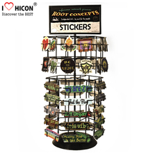 30 Slots Spinning Merchandising Countertop Metal Wire Commercial Price Tag Stickers Display Rack