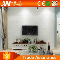 Modern Brick Wallcovering 3D White Brick Wallpaper with Promotional Price